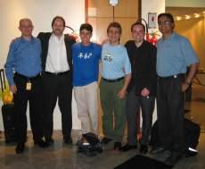 Ordem: Petrl Suchomel, Tim Boudreau, Marcelo, Claudio, Roman Strobl e Sridhar Reddy